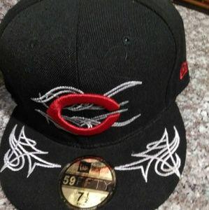 NWT Cincinnati Reds vtg New Era fitted  cap 7 1/2